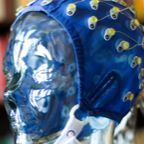 EEG Cap on robot in Centre for Advanced Research in Experimental and Applied Linguistics (ARIEAL)